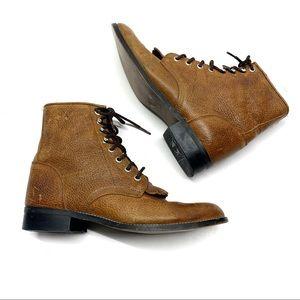❤️ Justin Vtg Roper Kilte Boots Pebbled Leather